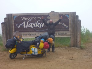 Top of the wold Highway, Alaska, USA nach ca. 4500km.