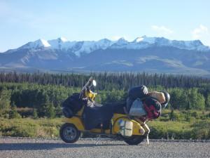 Kanada, Yucon Territorium, Nothern Rocky Mountains Nach etwa 8.000 km Reise.