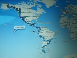 Die Strecke: Vom nördlichsten zum südlichsten Punkt des Kontinentes. 71.000km. 19 Länder, 22 Monate, 520 Tankstopps, unzählige Vespateile und 22 Vespaclubs die ich traf machten diese Reise zu einem unvergesslichen Abenteuer!